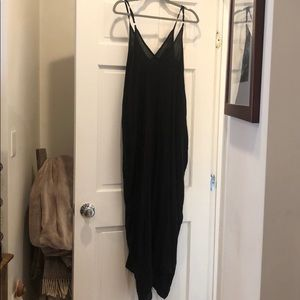 Strappy loose black dress